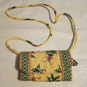Vera Bradley Yellow Hope Clutch with Strap